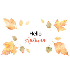 watercolor card of leaves and branches vector image vector image