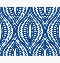 white blue ogee pattern vector image
