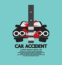 Car accident with pole vector