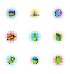 Sanitation icons set pop-art style vector image
