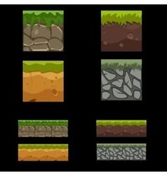 Seamless landscape square elements set vector image vector image