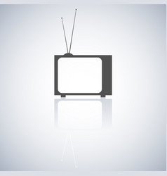 The tv icon vector