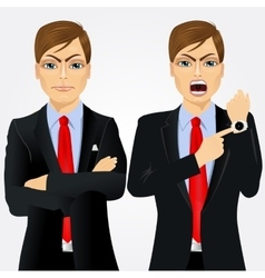 Two angry businessmen vector image