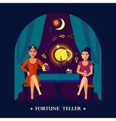Fortune Teller Cristal Ball Flat vector image