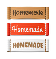 homemade labels vector image vector image