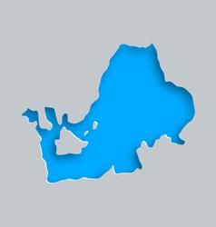 Map of Lake Chiemsee vector image