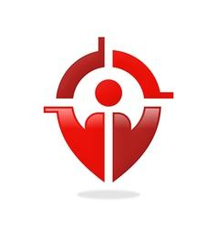 People target gps location finder logo vector