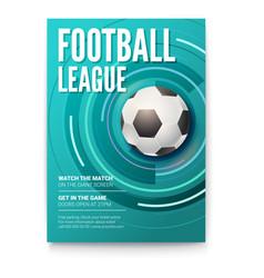 poster of tournament football league soccer ball vector image