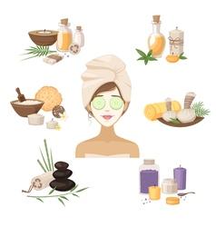 Spa Beauty Elements vector image