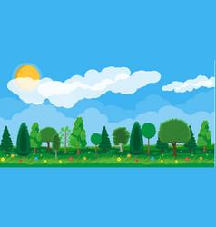 summer nature landscape national park vector image vector image