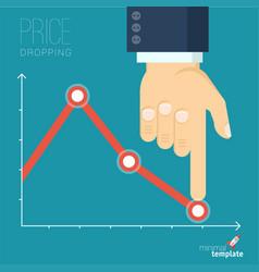 Decreasing business graph vector