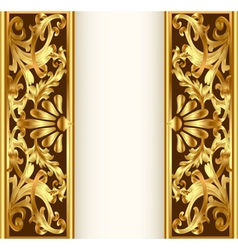 frame background with gold vegetable pattern vector image