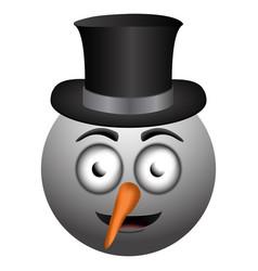 happy snowman emoji vector image
