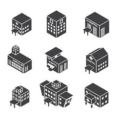 isometric hospital building icon vector image