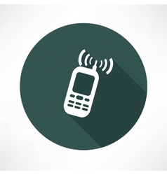 mobile phone calling icon vector image vector image