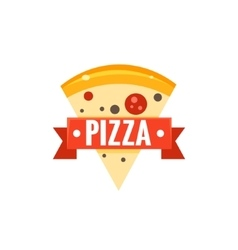 Restaurant Logo With Pizza Slice vector image