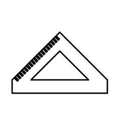 rule school supply icon vector image vector image