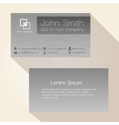 simple brushed metal gray business card design vector image vector image