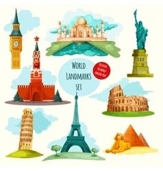 World Landmarks Set vector image
