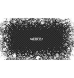 3d snow frame vector