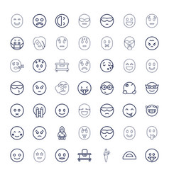 49 cheerful icons vector