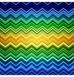 Abstract blue green and yellow zig-zag warped vector