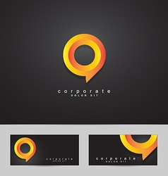Abstract circle corporate logo vector image