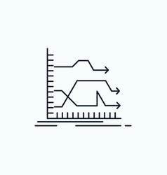 Arrows forward graph market prediction flat icon vector