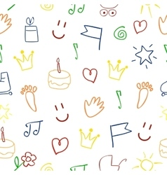 Baby pattern with pictures vector