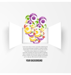Background window and circle vector