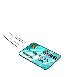 bank card flies isolate on white background vector image