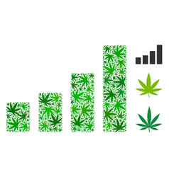 bar chart mosaic of marijuana vector image