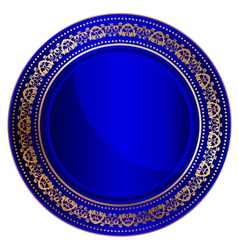 blue oriental tray vector image