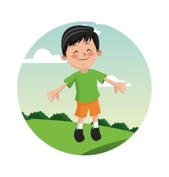 Boy kid cartoon design vector