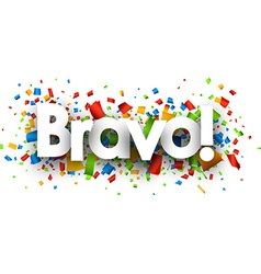 Bravo banner vector