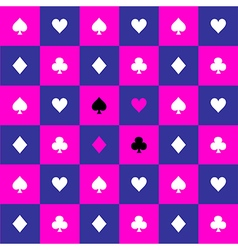 Card Suits Cosmos Purple Blue Pink Chess Board vector