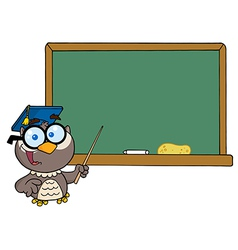 Cartoon owl teacher vector