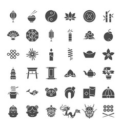 china solid web icons vector image