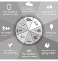 Circle infographic timeline element layout vector image vector image