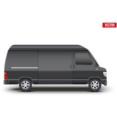 Classic vip service white minibus vector