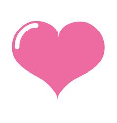 colorful art heart love icon design vector image