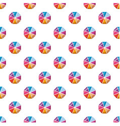 Colorful circle divided into eight parts pattern vector