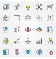 Colorful innovation icons set vector
