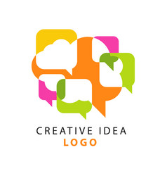 creative idea logo template with abstract colorful vector image