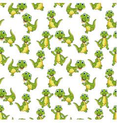 crocodile pattern vector image