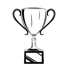 Cup award Isolated on white vector