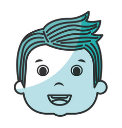 cute boy head avatar character vector image