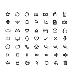Digital multimedia thick line icons set vector image