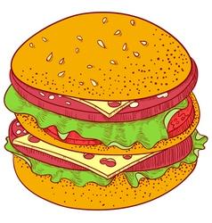 Doodle Cheeseburger vector