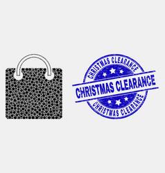 dot shopping bag icon and distress vector image